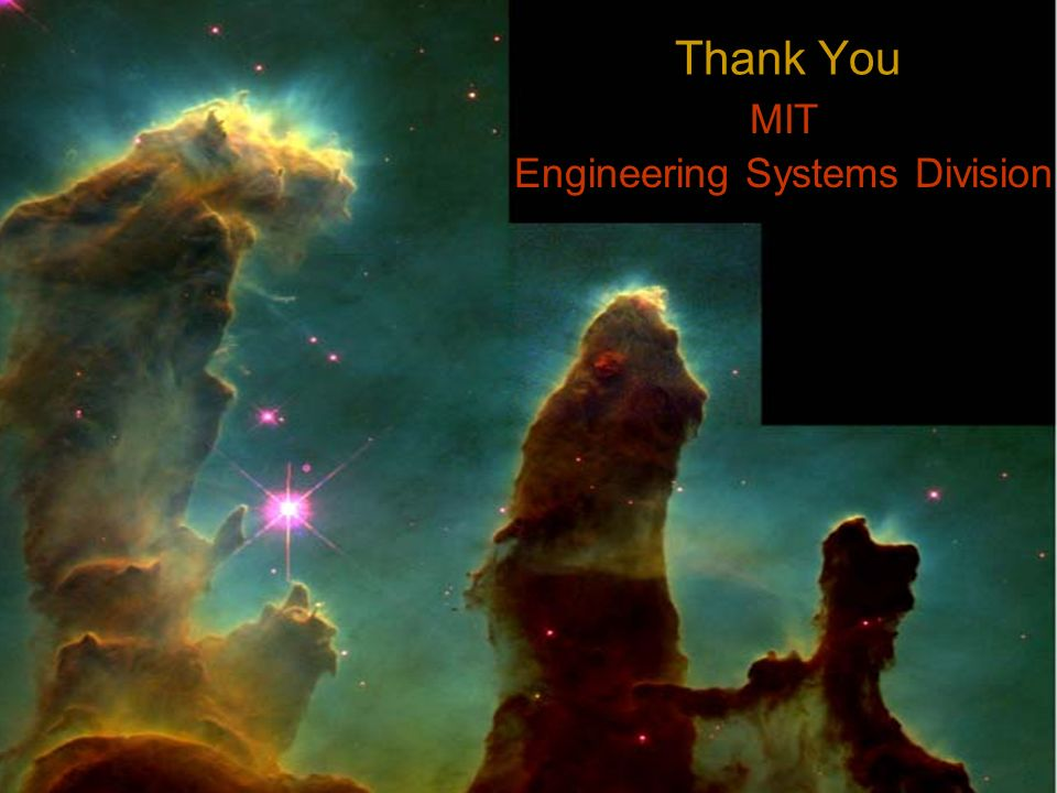 Thank You MIT Engineering Systems Division
