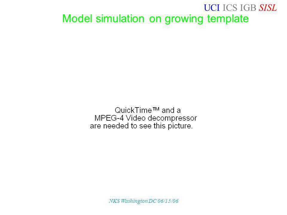 UCI ICS IGB SISL NKS Washington DC 06/15/06 Model simulation on growing template