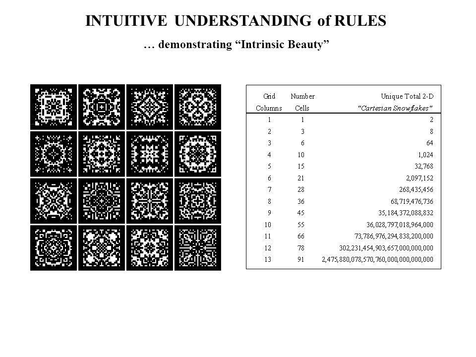 INTUITIVE UNDERSTANDING of RULES … demonstrating Intrinsic Beauty