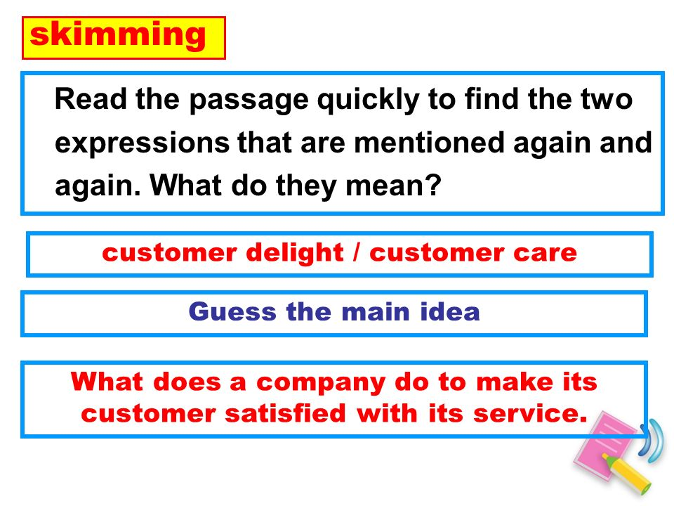 Lets apply these skills to finish exercises on Reading Comprehension.