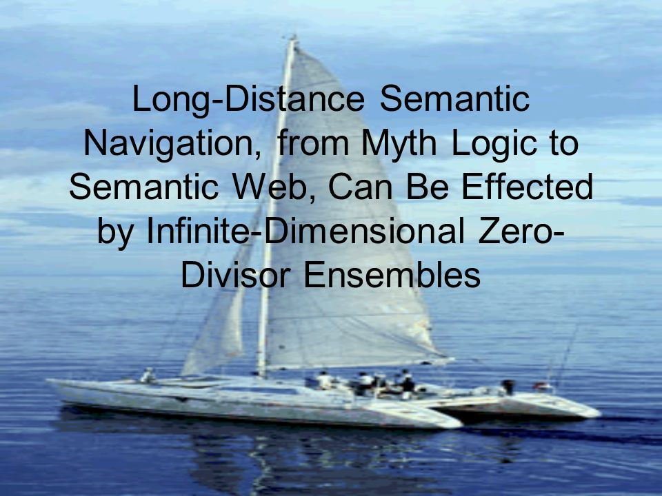 Long-Distance Semantic Navigation, from Myth Logic to Semantic Web, Can Be Effected by Infinite-Dimensional Zero- Divisor Ensembles