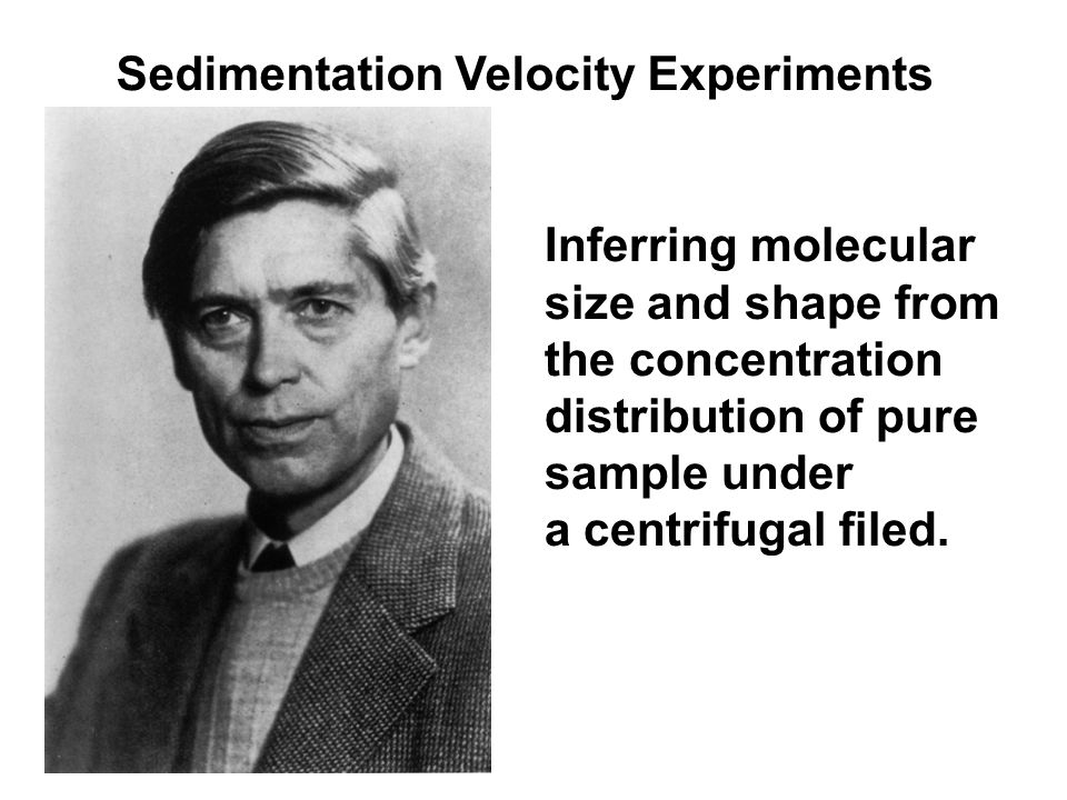 Inferring molecular size and shape from the concentration distribution of pure sample under a centrifugal filed. Sedimentation Velocity Experiments