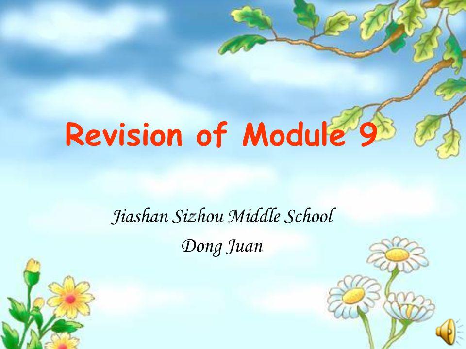 Revision of Module 9 Jiashan Sizhou Middle School Dong Juan