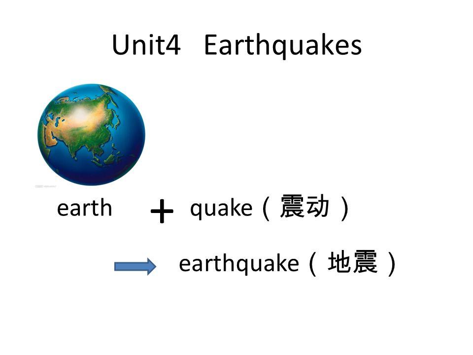 Unit4 Earthquakes quake + earth earthquake