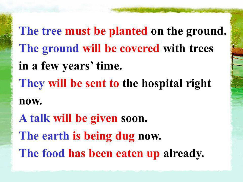 ,,, be +vt.p.p. Conclusion: (1)