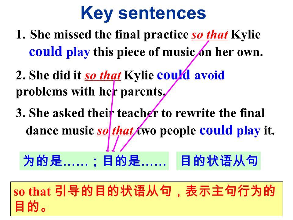 Key sentences 1.