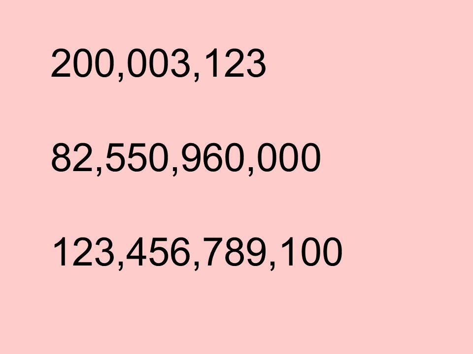 200,003,123 82,550,960,000 123,456,789,100