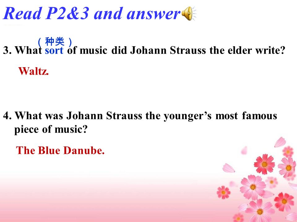 1. Where is Vienna. 2. Which family was the most famous family of musicians in Vienna.