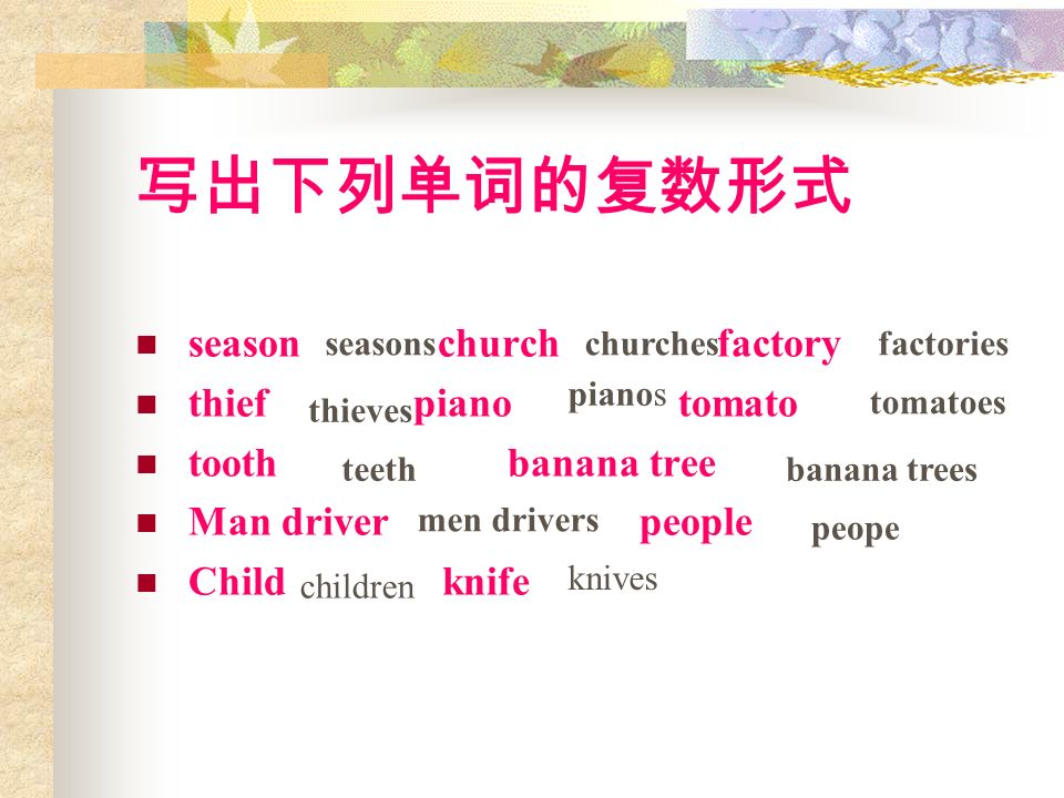 season church factory thief piano tomato tooth banana tree Man driver people Child knife seasonschurchesfactories thieves pianos tomatoes teethbanana
