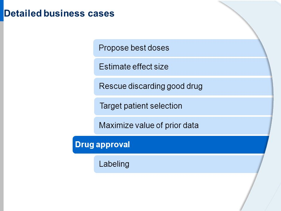 | 38 Using data to enhance trial design when expanding drug usage PM approach and impact Sponsor seeking approval to use an adult seizure drug (alread