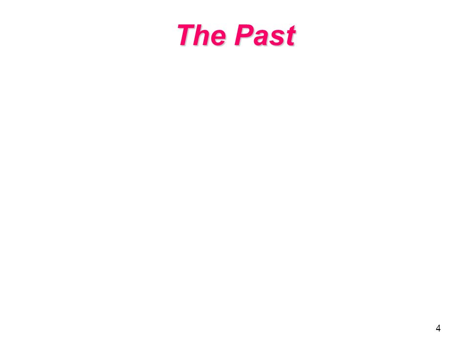 4 The Past