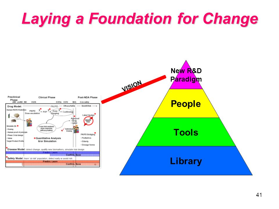 41 VISION Laying a Foundation for Change