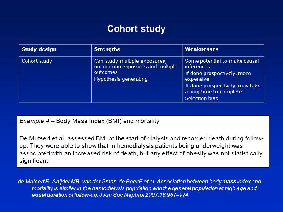 Cohort study de Mutsert R, Snijder MB, van der Sman-de Beer F et al.