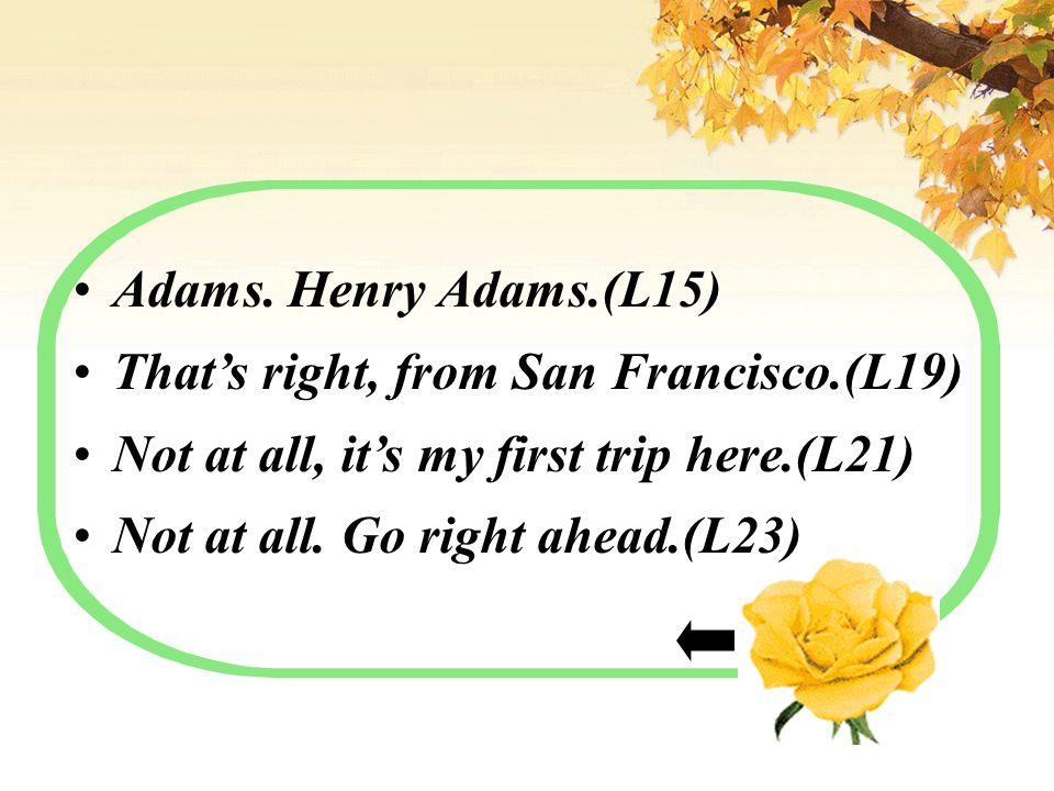 Adams.