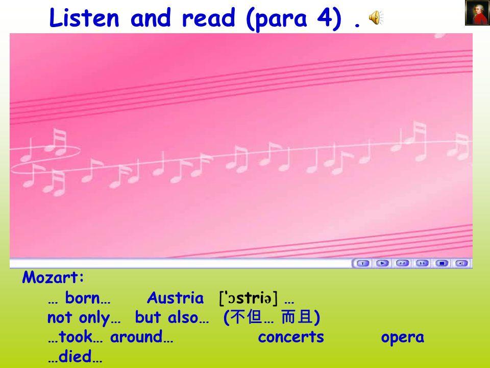 Mozart [ məuza:t] Ronde Alla Turca Mozart (1756.1--1791.12)