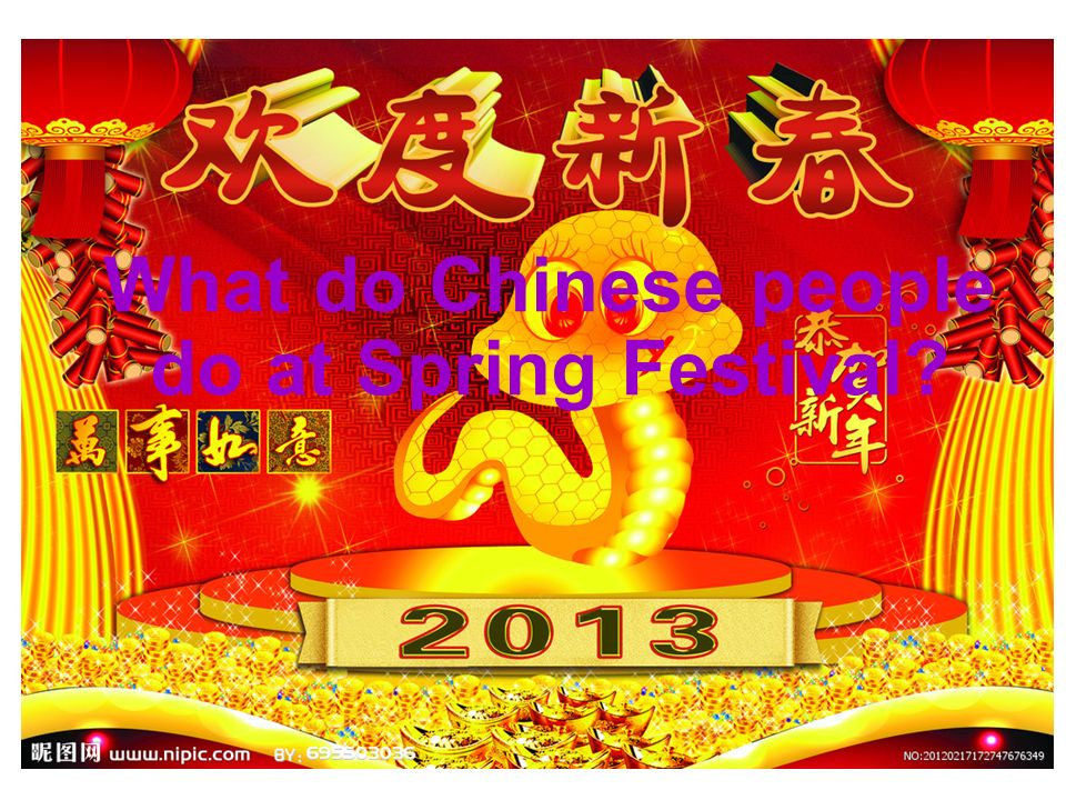 What do Chinese people do at Spring Festival?
