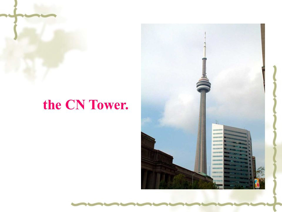 the CN Tower.