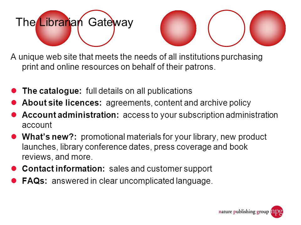A unique web site that meets the needs of all institutions purchasing print and online resources on behalf of their patrons. The catalogue: full detai