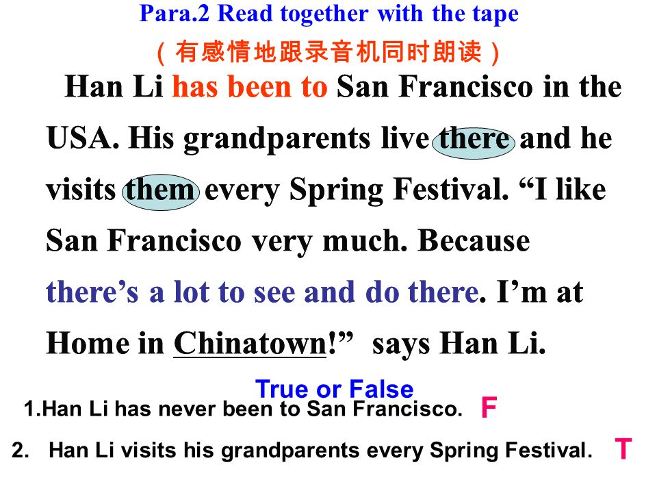 Han Li has been to San Francisco in the USA.