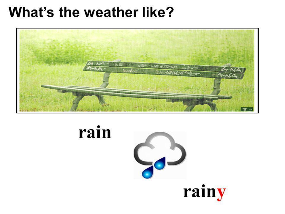 rain rainy Whats the weather like