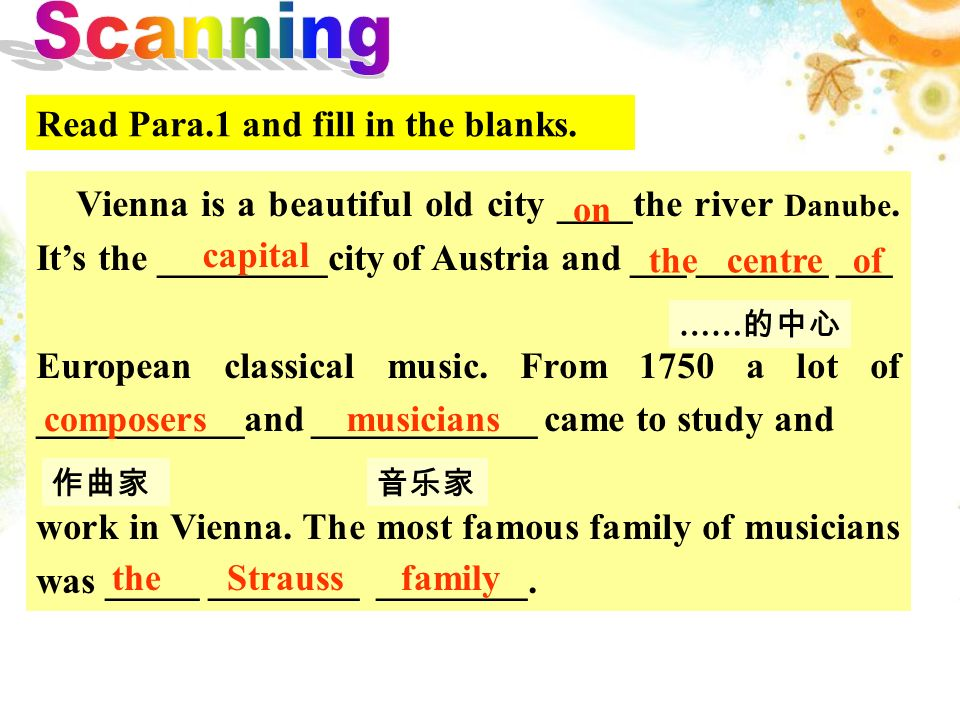 A. The introduction of Vienna. B. The Strauss family and Mozart.