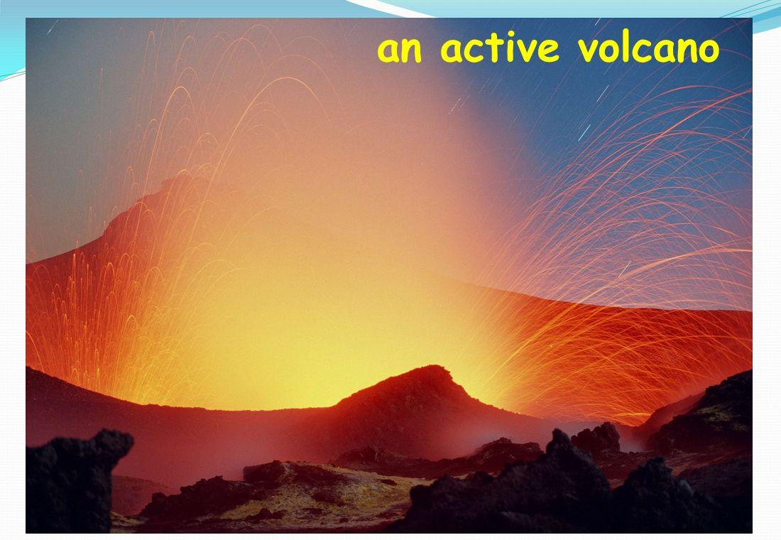 an active volcano
