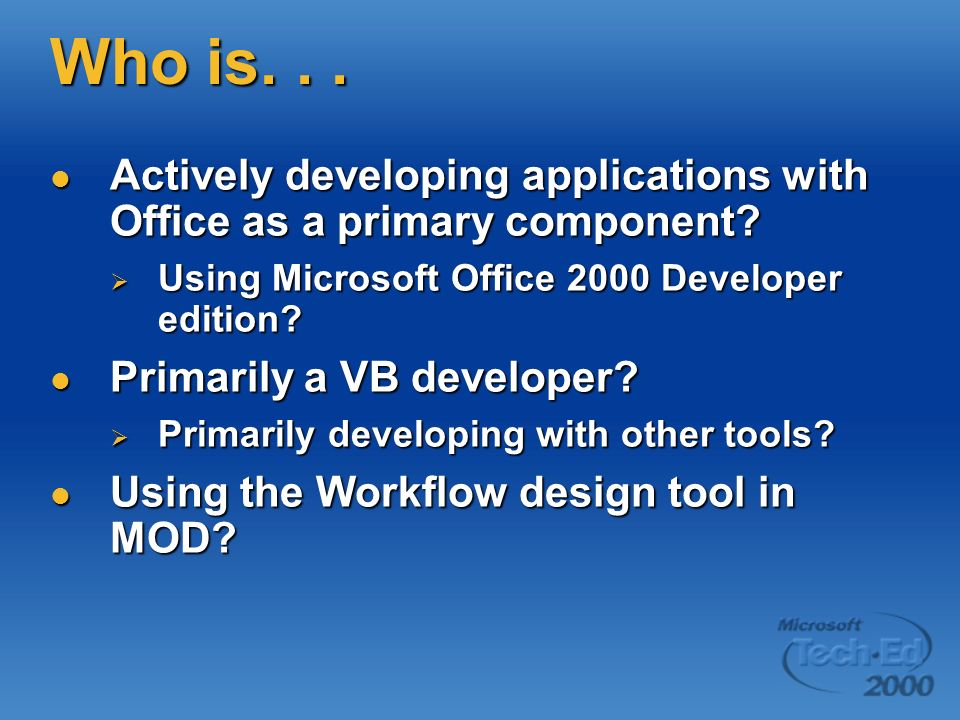 My Other Jobs Author Author Several books, including VB Programmers Guide to the Windows Registry Several books, including VB Programmers Guide to the Windows Registry Regular contributor to several publications, including Informants Microsoft Office & VBA Developer, VBPJ, and Information Week Regular contributor to several publications, including Informants Microsoft Office & VBA Developer, VBPJ, and Information Week Training Training VB, VBA, VI, and SQL Server instructor for Application Developers Training Company VB, VBA, VI, and SQL Server instructor for Application Developers Training Company
