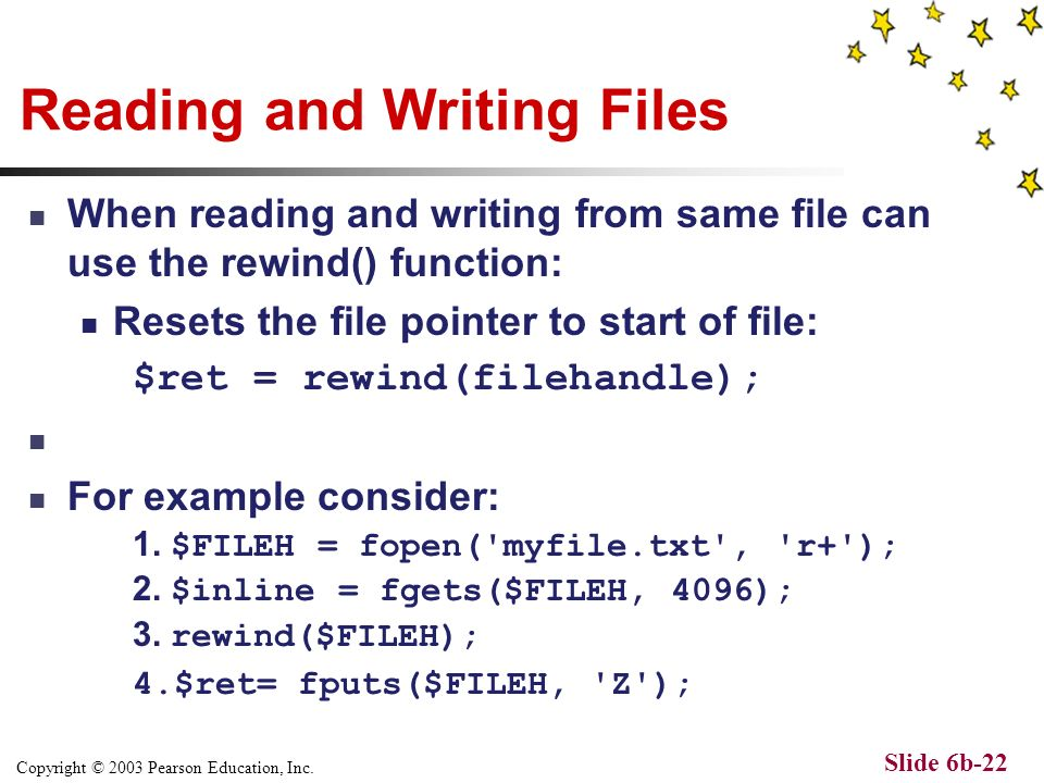 Copyright © 2003 Pearson Education, Inc. Slide 6b-21 Tip: Using the newline character \n Use the \n character to output a new line character into the