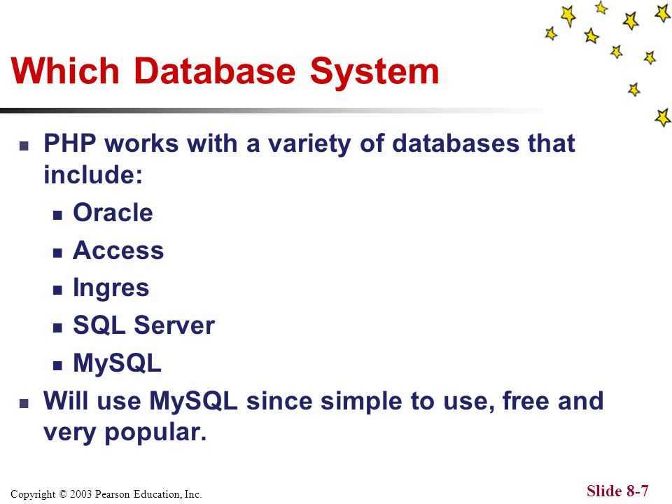 Copyright © 2003 Pearson Education, Inc. Slide 8-6 Relational Database.