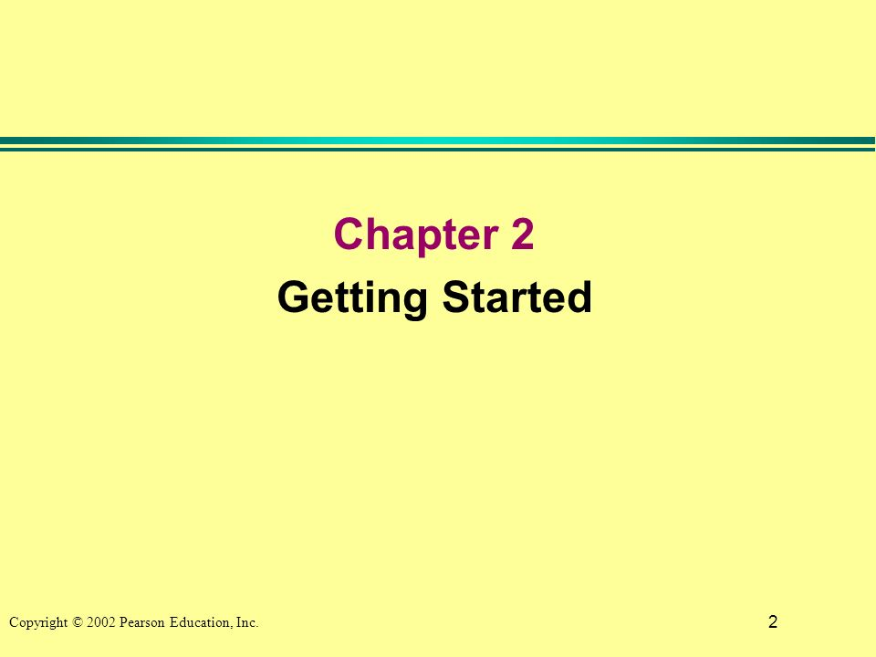 2 Chapter 2 Getting Started