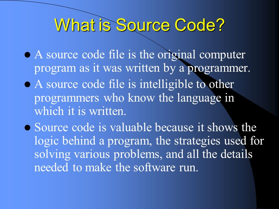 What is Executable Code.