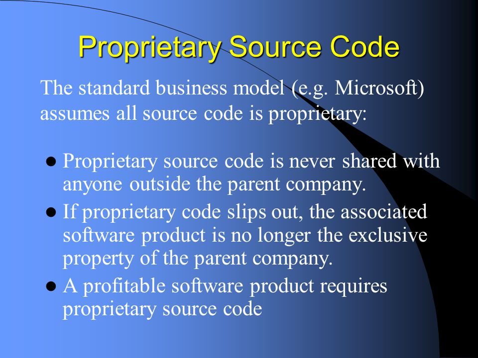 Myths and Misunderstandings Commercial software is always proprietary software If its free, it cant be very good You have to pay for good customer support Open source software is a risky experiment