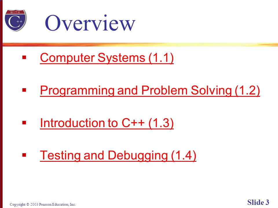 Copyright © 2003 Pearson Education, Inc. Slide 54 Display 1.6 Back Next