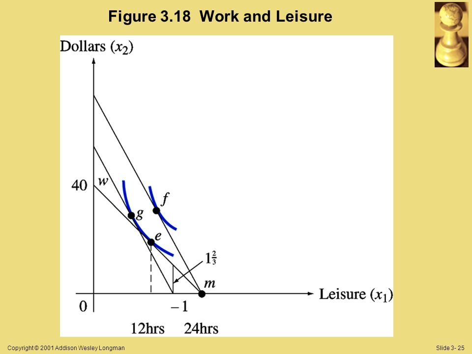Copyright © 2001 Addison Wesley LongmanSlide 3- 25 Figure 3.18 Work and Leisure