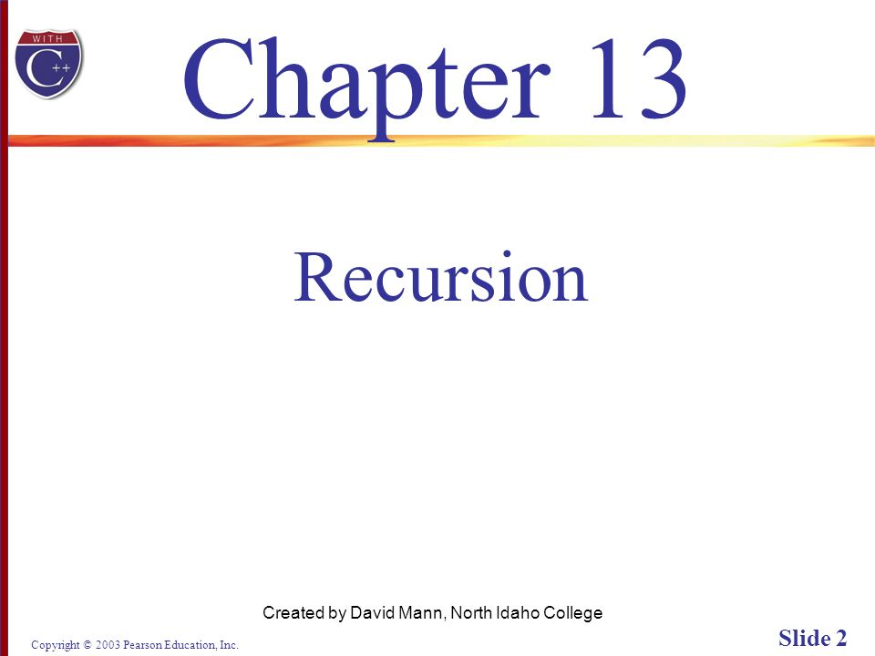 Copyright © 2003 Pearson Education, Inc. Slide 63 Display 13.6 (2/2) Back Next
