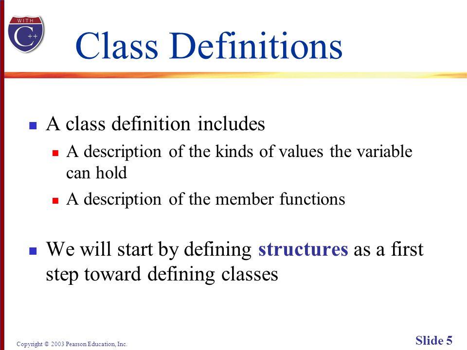 Copyright © 2003 Pearson Education, Inc. Slide 66 Display 6.1 (1/2) Back Next