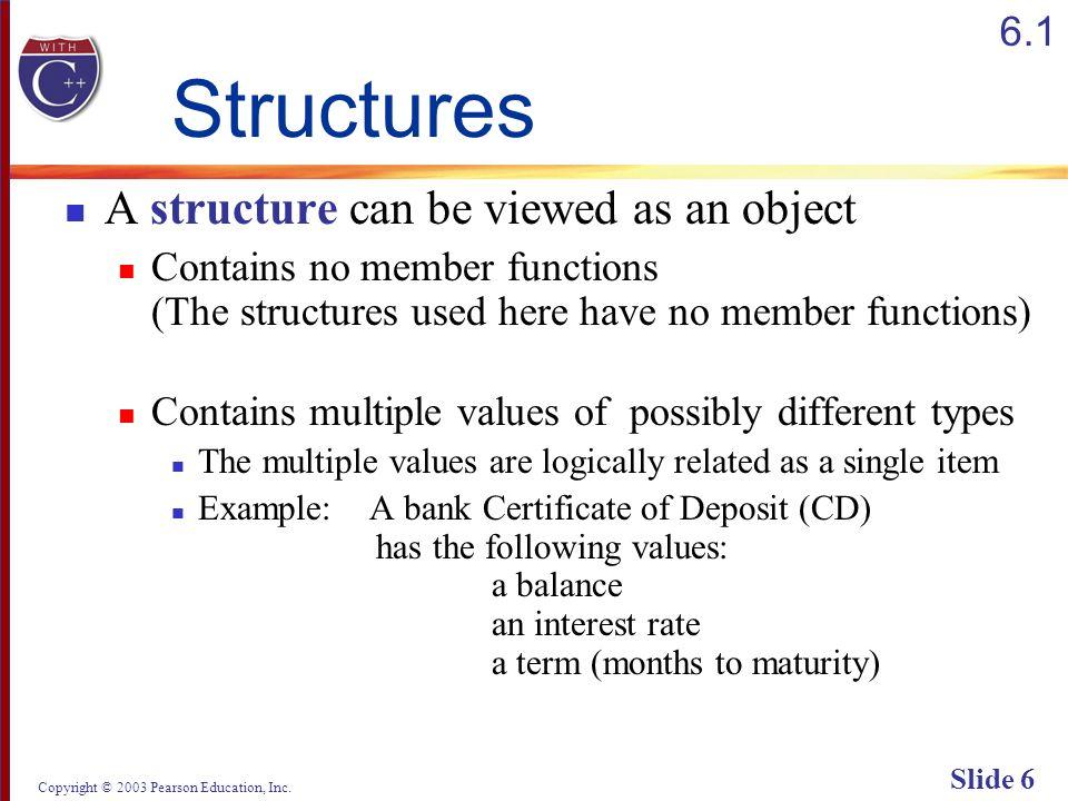 Copyright © 2003 Pearson Education, Inc. Slide 67 Display 6.1 (2/2) Back Next