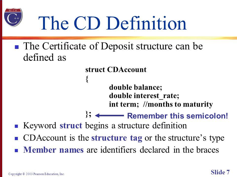 Copyright © 2003 Pearson Education, Inc. Slide 68 Display 6.2 Back Next