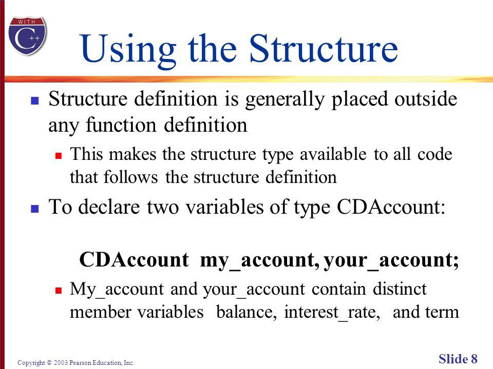 Copyright © 2003 Pearson Education, Inc. Slide 69 Display 6.3 (1/2) Back Next