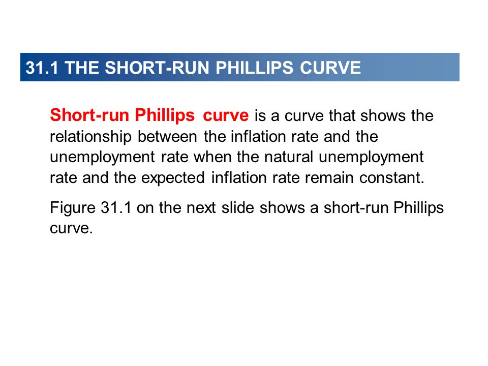 31.1 THE SHORT-RUN PHILLIPS CURVE Aggregate Demand Fluctuations Aggregate demand fluctuations bring movements along the aggregate supply curve and equivalent movements along the short-run Phillips curve.
