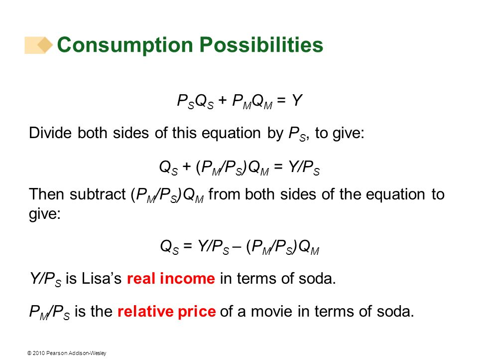 © 2010 Pearson Addison-Wesley Predicting Consumer Choices Substitution Effect and Income Effect For a normal good, a fall in price always increases the quantity consumed.