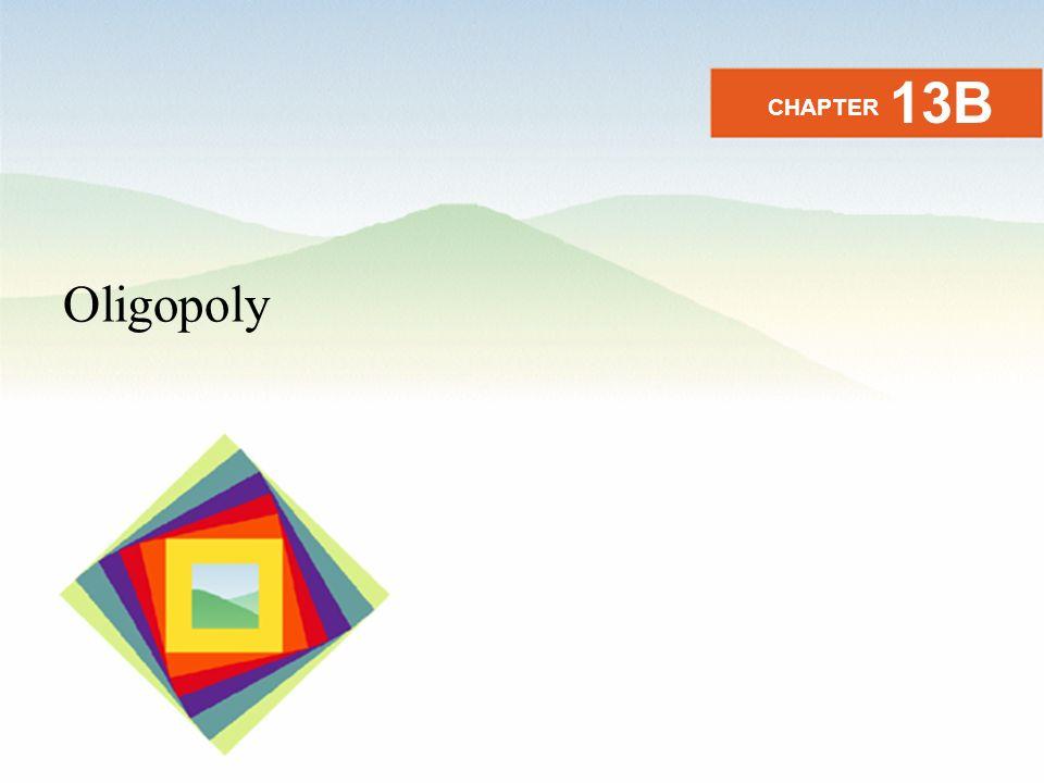 Oligopoly CHAPTER 13B