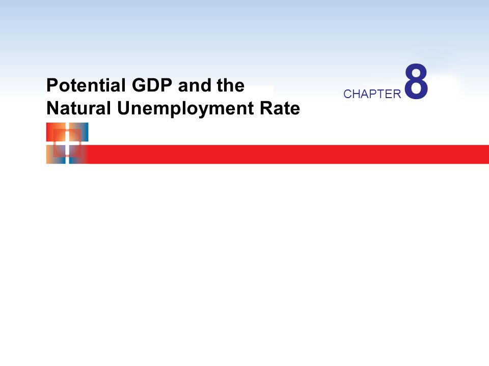 Potential GDP and the Natural Unemployment Rate CHAPTER 8