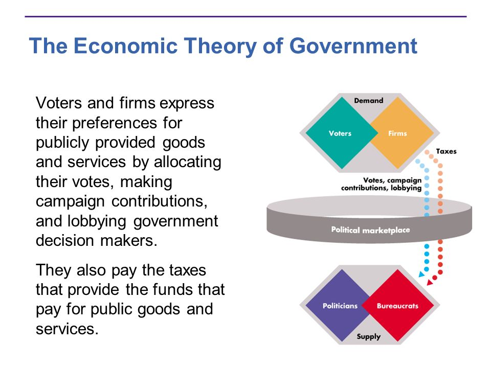 Voters and firms express their preferences for publicly provided goods and services by allocating their votes, making campaign contributions, and lobbying government decision makers.
