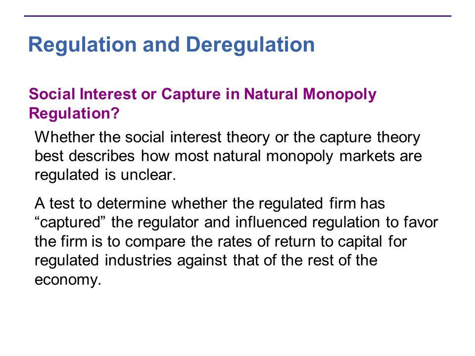 Social Interest or Capture in Natural Monopoly Regulation.