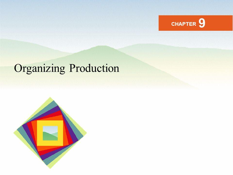 Organizing Production CHAPTER 9