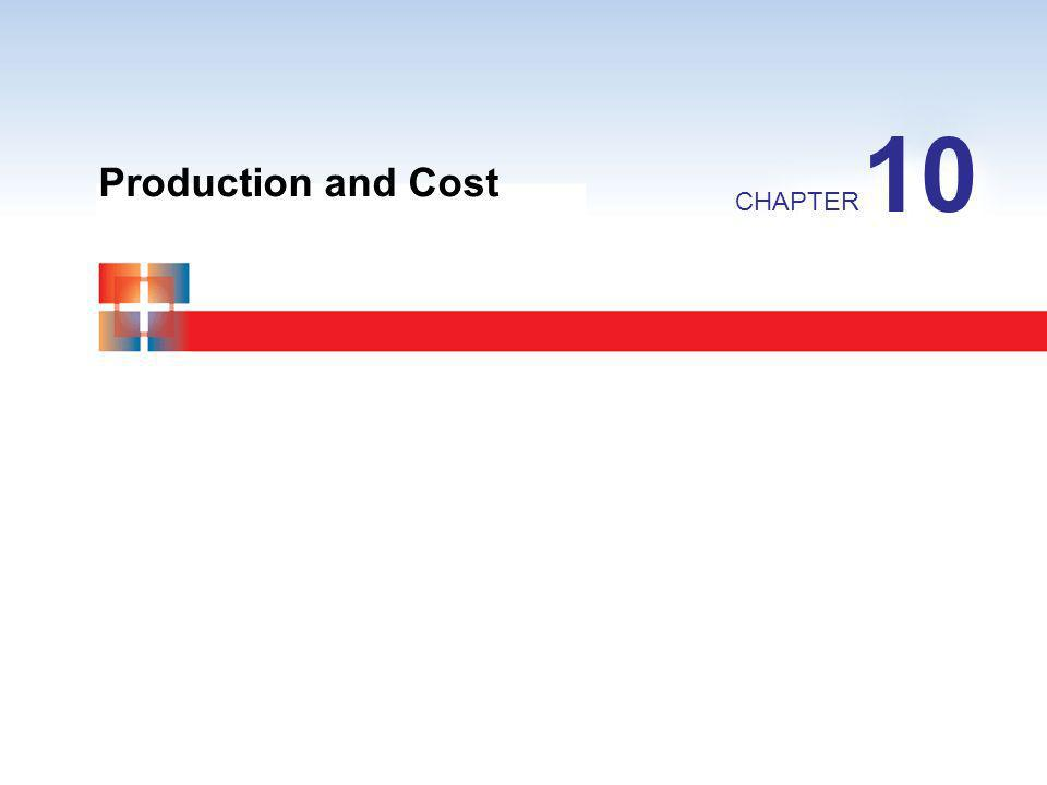Production and Cost CHAPTER 10