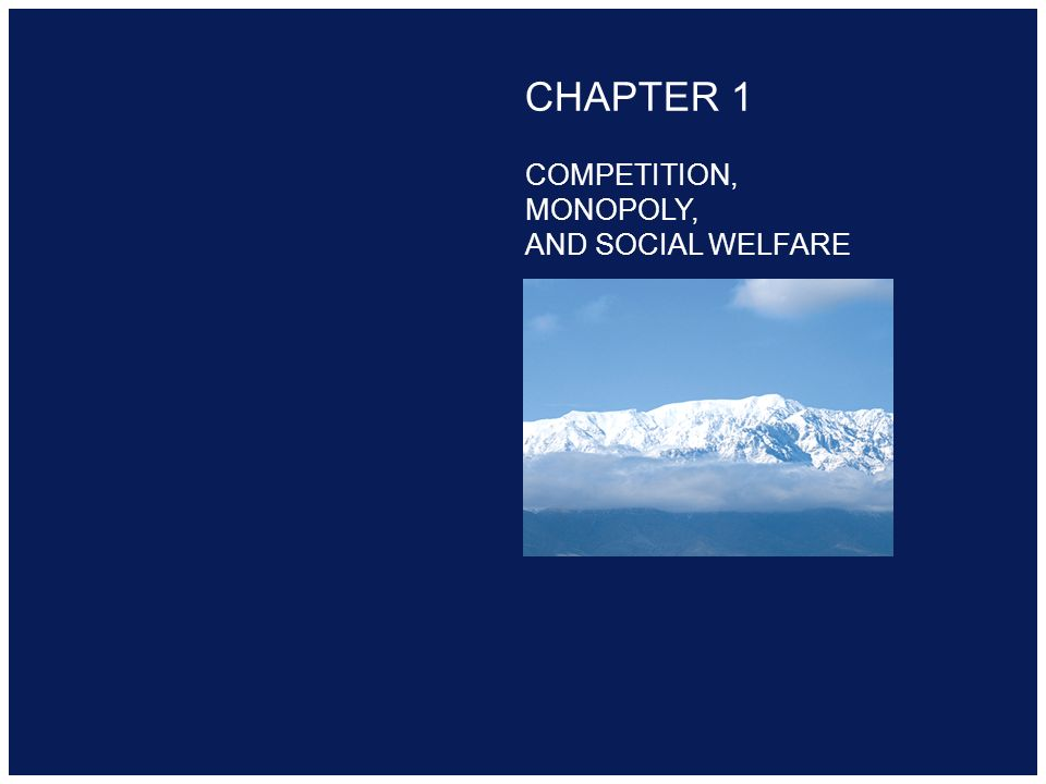 Copyright 2000 Addison-Wesley Longman CHAPTER 1 COMPETITION, MONOPOLY, AND SOCIAL WELFARE