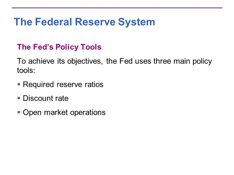 The Federal Reserve System The Fed sets required reserve ratios, which are the minimum percentages of deposits that depository institutions must hold as reserves.