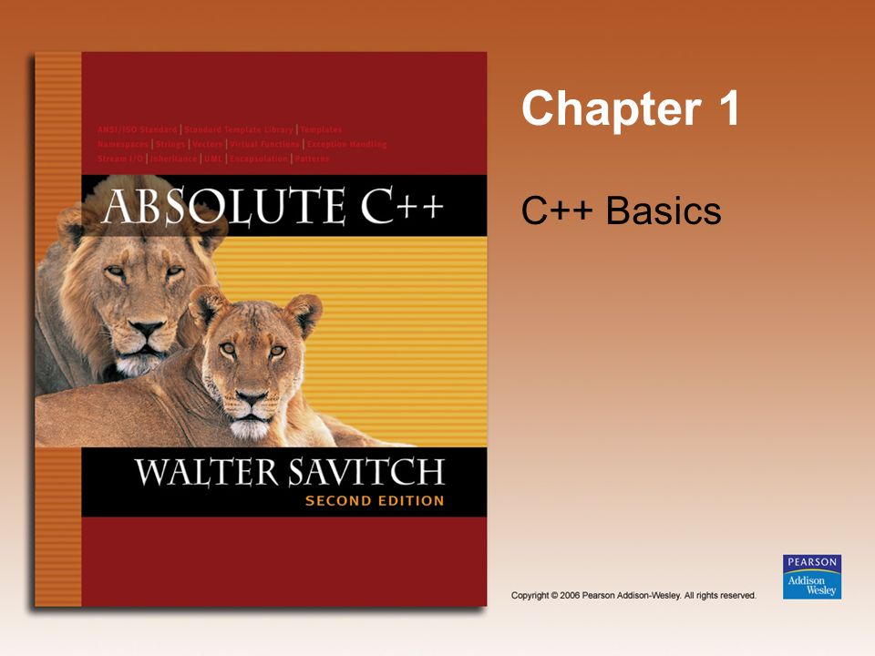 Chapter 1 C++ Basics